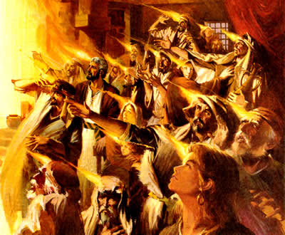 Holy Spirit Fire On Apostles